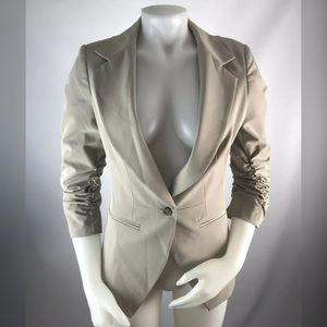 Elizabeth & James Ruched Blazer Suit Coat